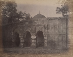 Front view of the Qadam Rasul [Masjid], Gaur. 1003106